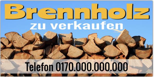 Brennholz Verkaufsbanner | Banner Ofenholz zu verkaufen | Brennholz Infobanner |
