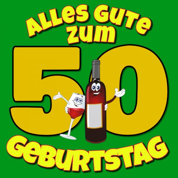 50. Geburtstag | Banner zum Geburtstag | Geburtstagsbanner | Geburtstagsposter |