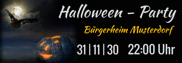 Halloween | Banner | Werbebanner | Online gestalten | Online erstellen | selbst entwerfen | Halloweenbanner | Spannband |