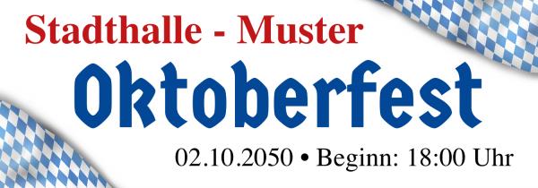 Wiesnbanner | Oktoberfestplane | Oktoberfestbanner | Bannerplane | Werbebanner | Online selbst gestalten |