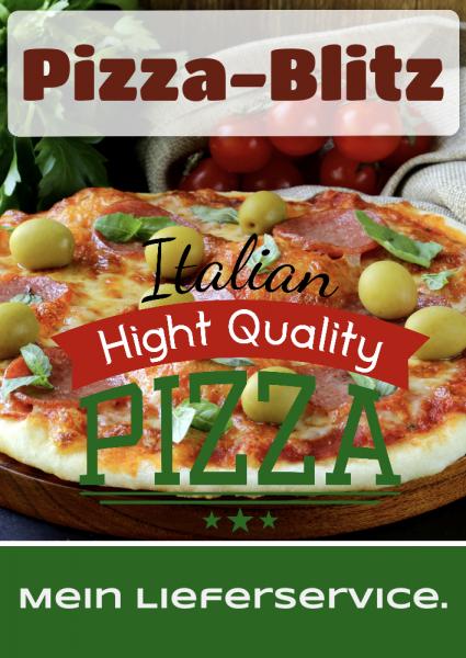 Pizza | Pizzaposter | Pizzaplakat | Plakate | Poster | Pizzawerbung | Kostenlose Vorlagen |