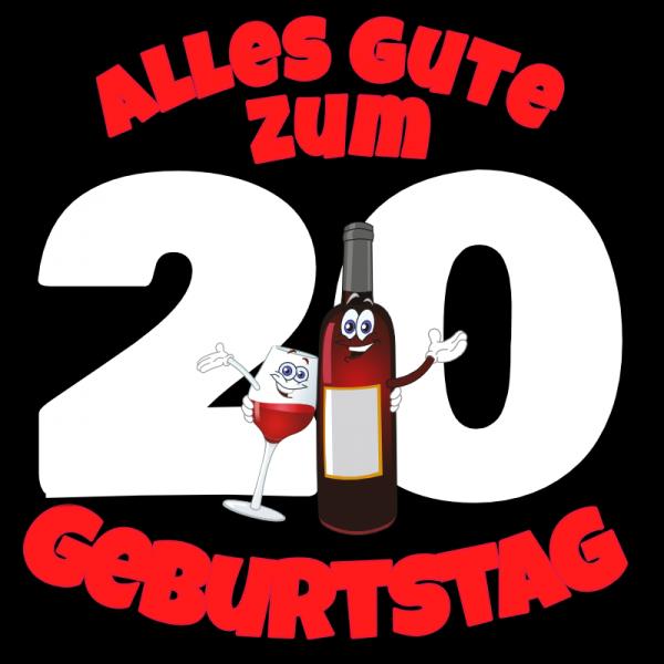 20. Geburtstag | Geburtstagsbanner | Banner zum Geburtstag |