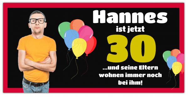 Geburtstagsbanner | 30 Geburtstag | Banner drucken | Werbebanner | Geburtstagsbanner drucken | Online gestalten |