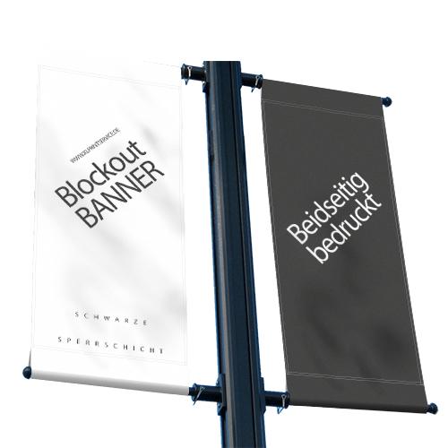 Blockoutbanner | Banner beidseitig bedruckt | Werbebanner | Banner online selbst gestalten |