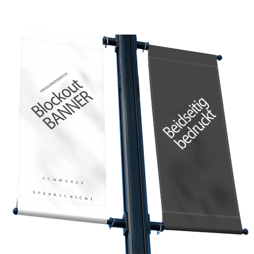 Blockout | Blockoutbanner | Banner beidseitig bedruckt | 2-seitig bedruckter Banner | Werbebanner | Banner drucken | PVC-Banner |
