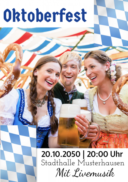 oktoberfest plakat poster selber online erstellen g nstig drucken. Black Bedroom Furniture Sets. Home Design Ideas