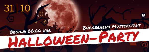 Halloween   Party   Gruselparty   Gruselbanner   Halloween-Banner   Halloweenbanner   Online selbst erstellen   Online gestalten  