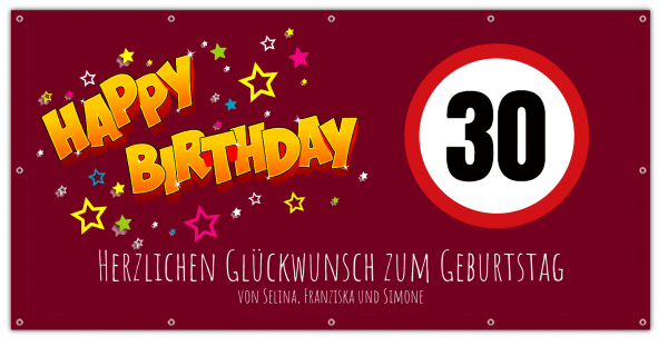 30 Geburtstag Banner | Geburtstags-Banner | Geburstagsbanner | 30 | 40 | 50 | 60 |