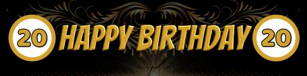 20. Geburtstag | Geburtstagsbanner | Plakat zum Geburtstag | Werbebanner | Mesh | Banner drucken |