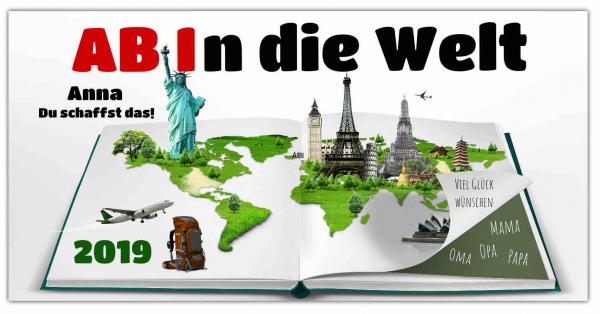 Abi Banner Weltreise 2