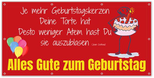 Banner | Geburtstagstorte | Geburtstagsbanner drucken | PVC-Banner zum Geburtstag | Geburtstags-Banner | Online gestalten