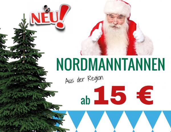 Weihnachtsbanner Werbung | Christbaumverkauf | Weihnachtsbaumverkauf | Tannenbaumverkauf |