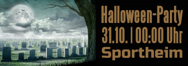 Halloweenbanner | Halloweenparty | Halloween-Banner | Werbebanner | Halloween |