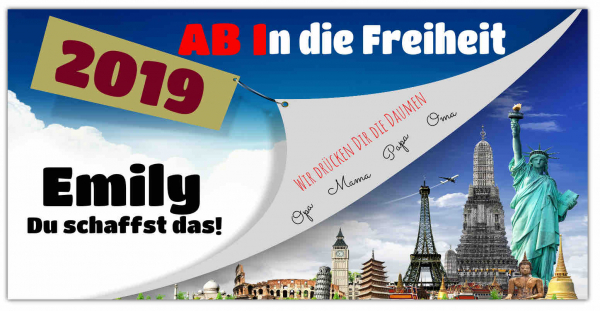 Abi Banner | Abiplakat | Plakat zum Abitur | Abi Plakate | Abi Plakate selber machen | Abi-Banner | Abi-Plakate | Abibanner |
