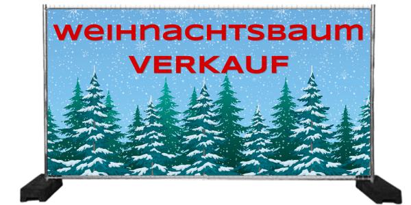Weihnachtsbaum-Verkaufs-Banner | Werbung für Christbaumverkauf | Werbebanner Weihnachtsbaumverkauf |