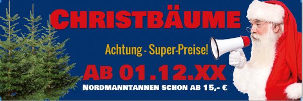 Weihnachtsbaum-Banner | PVC-Banner Christbaum | Christbaumverkauf | Tannenbaumverkauf Banner |