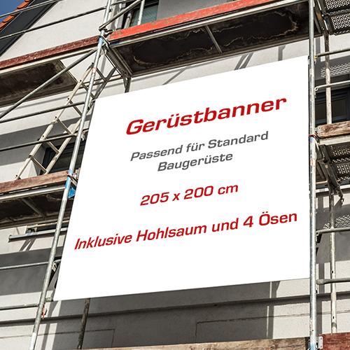 Gerüstbanner | Meshbanner | Fassadenbanner | Gerüstwerbung | Online selbst gestalten |
