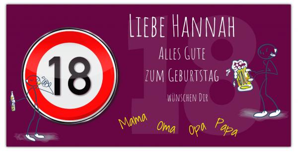 Geburtstags Banner 18 | 18 Geburtstag | Banner drucken | Werbebanner | Geburtstagsbanner | Geburtstags-Banner