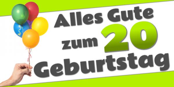 20. Geburtstag   Geburtstagsbanner   Geburtstags-Banner   Werbebanner   Mesh   Meshbanner   Banner drucken