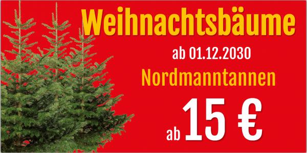 Werbung für Christbaumverkauf | Tannenbaumverkauf | Weihnachtsbaumverkauf | Banner günstig |