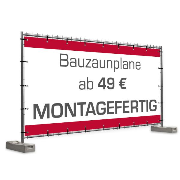 Bauzaunbanner | Bauzaunplane | Online selbst gestalten | Zaunbanner |