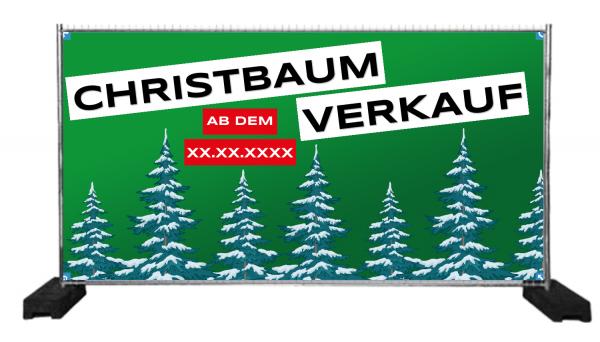 Christbaumverkauf | Bauzaunbanner | Banner Tannenbaumverkauf | Weihnachtsbaum Verkauf Banner |