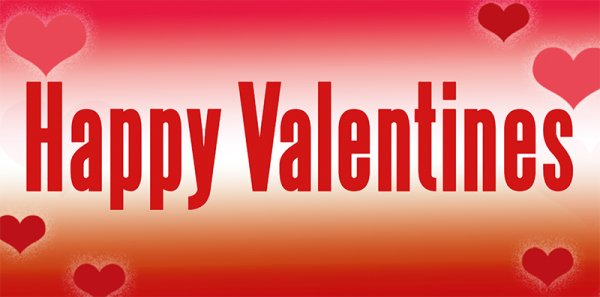 Valentinstags Banner   Banner zum Valentinstag   Valentinstagsbanner   Valentinstag Banner   Online gestalten