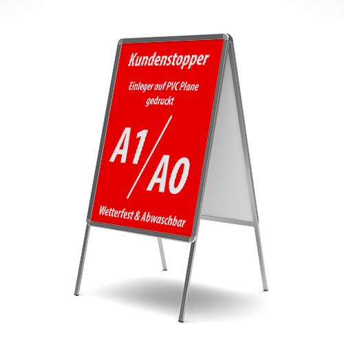 Kundenstopper Einleger | Werbebanner | PVC Banner drucken | Plane drucken