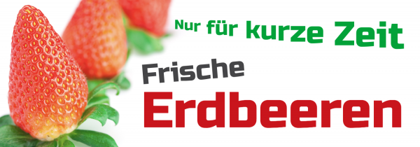 Werbebanner   Frische Erdbeeren   Erdbeere   Online selbst erstellen   Online entwerfen   Online drucken   selbst gestalten  