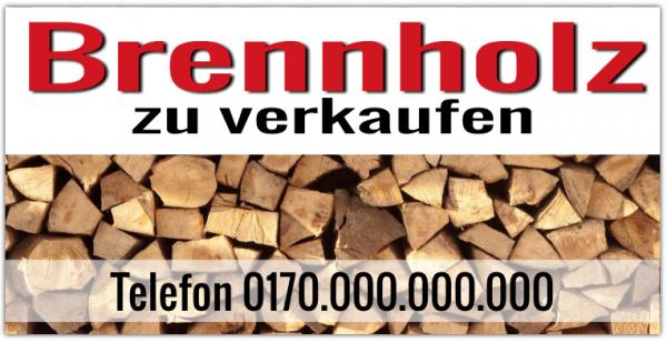 Brennholzbanner | Kaminholzbanner | Ofenholzbanner | Brennholzplane | Holzverkauf |