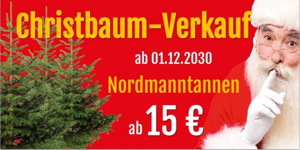 Weihnachtsbanner | Christbaumverkauf | Weihnachtsbaumverkauf | Banner Christbaumverkauf |