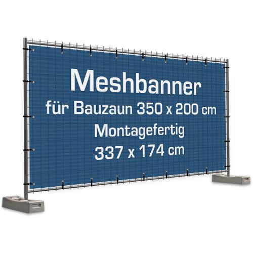 Meshbanner für Bauzaun | Bauzaunbanner | Bauzaunplane | Werbeplane | Werbebanner |